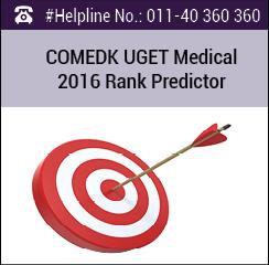 COMEDK UGET Medical 2016 Rank Predictor