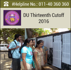 DU Thirteenth Cutoff 2016
