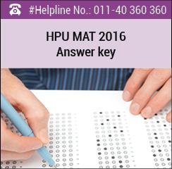 HPU MAT 2016 Answer Key