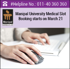Manipal University medical 2016 slot booking begins on March 21