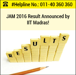 JAM 2016 Result Announced by IIT Madras!