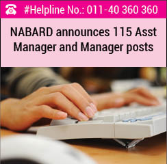 NABARD announces 115 Assistant Manager and Manager posts
