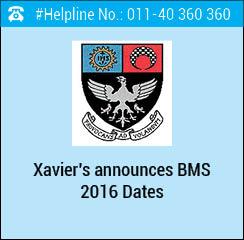 St. Xavier's announces BMS 2016; test on June 4