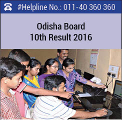 Odisha Board 10th Result 2016