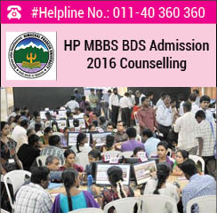 HP MBBS BDS 2016 Counselling