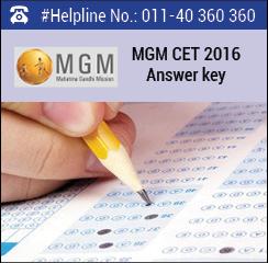 MGM CET 2016 Answer key