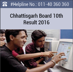 Chhattisgarh Board 10th Result 2016