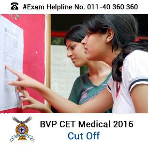 BVP CET Medical 2016 Cut off