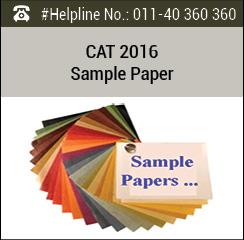 CAT 2016 Sample Paper