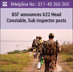 BSF announces 622 Head Constable, Sub Inspector posts