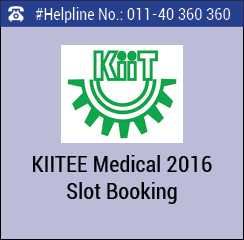KIITEE Medical 2016 slot booking