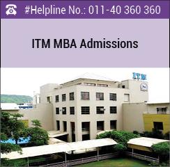 ITM Navi Mumbai announces MBA admissions 2016