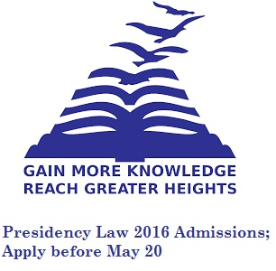 Presidency University announces 2016 applications for law programmes; Apply before May 20