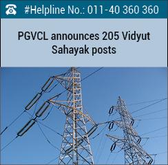 PGVCL announces 205 Vidyut Sahayak posts