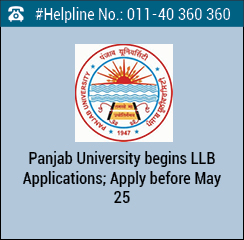 Panjab University begins LLB Applications; Apply before May 25