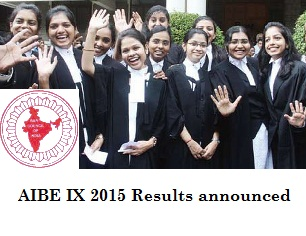 AIBE IX 2015 Results declared on May 21