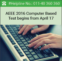 AEEE 2016 Computer Based Test begins from April 17