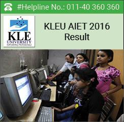KLEU AIET 2016 Result