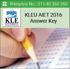 KLEU AIET 2016 Answer key