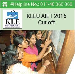 KLEU AIET 2016 Cut off