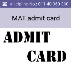 MAT May 2016 Admit Card available for download from April 23