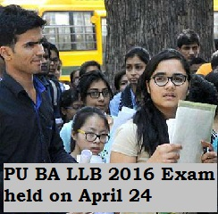 Panjab University BA LLB 2016 Exam held on April 24