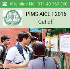 PIMS AICET 2016 Cut off