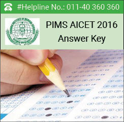 PIMS AICET 2016 Answer Key