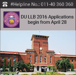 DU LLB 2016 Applications begin from April 28; Entrance Exam in June