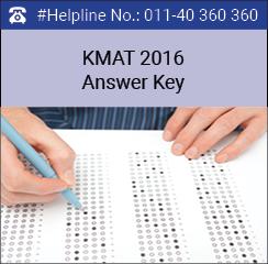 KMAT 2016 Answer Key