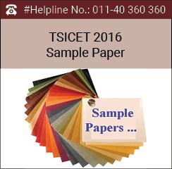 TSICET 2016 Sample Paper