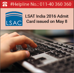 LSAT India 2016 Admit Card issued on May 8