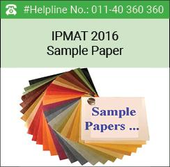 IPMAT 2016 Sample Paper