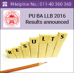 PU BA LLB Law 2016 Results announced