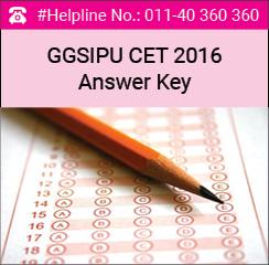 GGSIPU CET BBA 2016 Answer Key