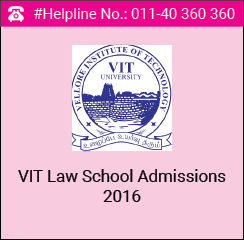 VIT Law School Admissions 2016