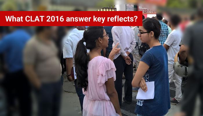 What CLAT 2016 answer key reflects?