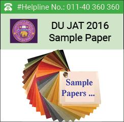 DU JAT 2016 Sample Paper