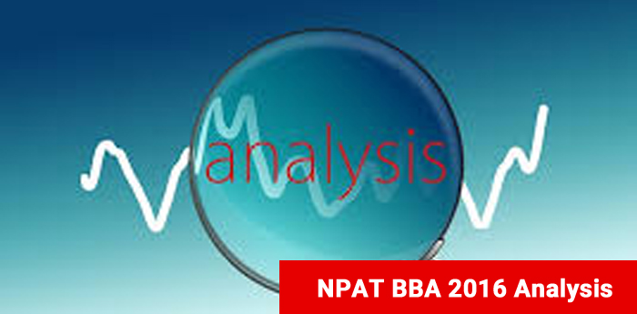 NPAT BBA 2016 Analysis - Moderate test with Quant as toughest section