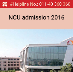 NCU School of Leadership announces 1year PGDM admissions 2016