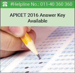 APICET 2016 Answer Key available from May 19