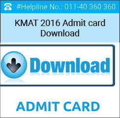 KMAT 2016 Admit card released; sent to candidates e-mail address