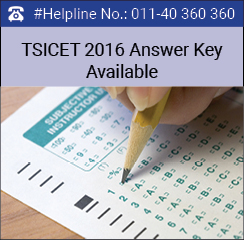 TSICET 2016 Answer Key available on May 19; two days prior to schedule