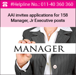 AAI invites applications for 158 Manager, Jr Executive posts