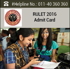RULET 2016 Admit Card