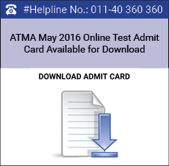ATMA May 2016 online test admit card available from May 26