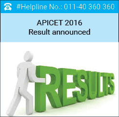 APICET 2016 Result announced on May 27