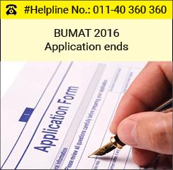 B-UMAT 2016 application ends; test on June 5