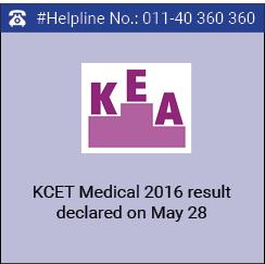 KCET Medical 2016 result declared on May 28