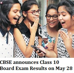 CBSE announces Class 10th Result 2016 on May 28